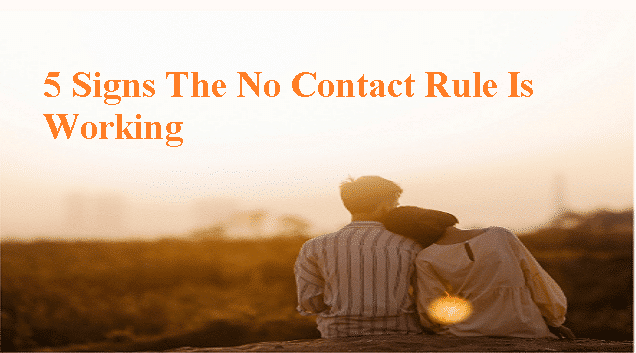 signs the no contact rule is working
