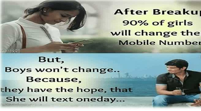 changing after a breakup